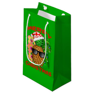 Petit Sac Cadeau Ananas de Père Noël de Joyeux Noël