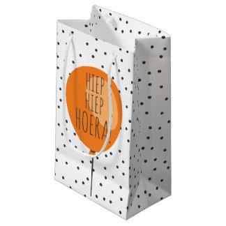 Petit Sac Cadeau Anniversaire orange de Néerlandais de ballon de