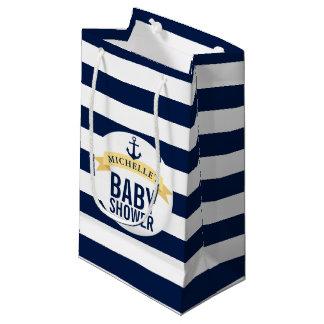 Petit Sac Cadeau Baby shower nautique de style customisé