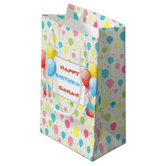 Petit Sac Cadeau Ballons colorés d'anniversaire