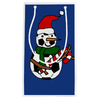 Petit Sac Cadeau Bande dessinée drôle de Noël de bonhomme de neige