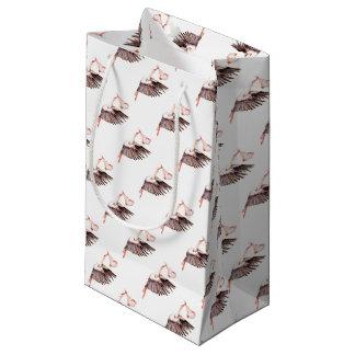 Petit Sac Cadeau Bébé sur la cigogne