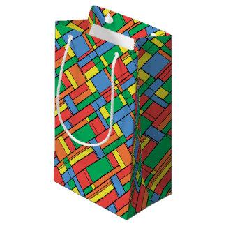 Petit Sac Cadeau Blocs de couleur