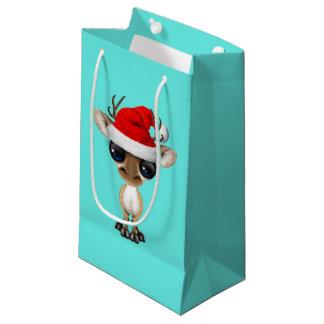 Petit Sac Cadeau Cerfs communs de bébé utilisant un casquette de