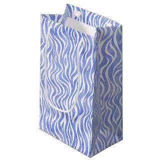 Petit Sac Cadeau Copie bleue de zèbre d'aquarelle