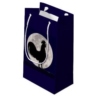 Petit Sac Cadeau Coq dans le clair de lune