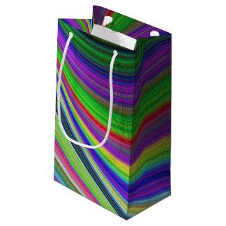 Petit Sac Cadeau Courbes de couleur