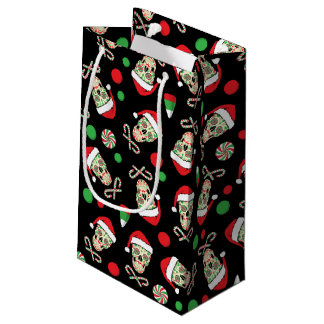 Petit Sac Cadeau Crâne aléatoire Père Noël de sucre