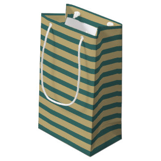 Petit Sac Cadeau Cru vert barré