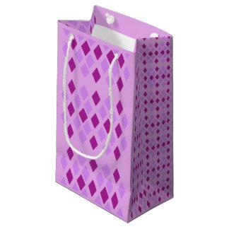 Petit Sac Cadeau Diamants violets pourpres d'aubergine