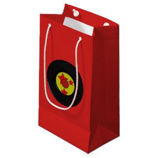 Petit Sac Cadeau Disque de vinyle rouge