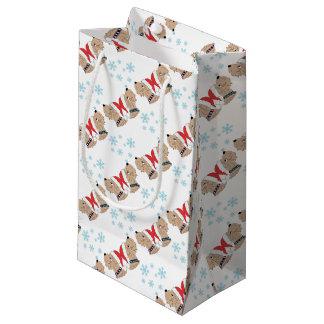Petit Sac Cadeau Emballage blond comme les blés de Noël de Terrier