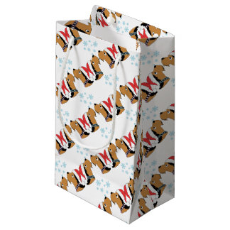 Petit Sac Cadeau Emballage de Noël d'Airedale Terrier