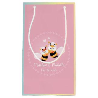 Petit Sac Cadeau Faveur mignonne de Merci de mariage de rose de