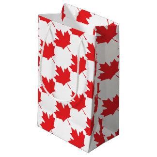 Petit Sac Cadeau Feuille d'érable canadienne