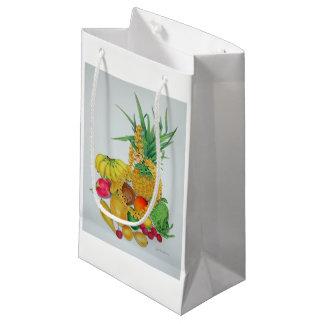 Petit Sac Cadeau Fruit tropical et Lei
