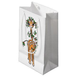 Petit Sac Cadeau Girafe de bébé - guirlande - joyeuse et lumineuse