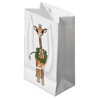 Petit Sac Cadeau Girafe de bébé - guirlande-joyeuse et lumineuse