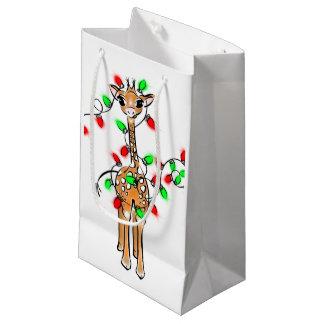 Petit Sac Cadeau Girafe de bébé - joyeuse et lumineuse