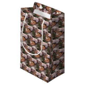 Petit Sac Cadeau Grenouille en bois