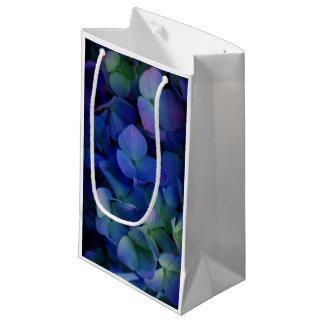 Petit Sac Cadeau Hortensias pourpres violets