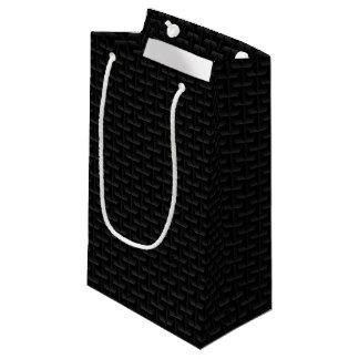 Petit Sac Cadeau Maille 3D noire