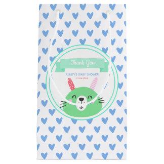 Petit Sac Cadeau Merci bleu mignon de baby shower du motif | de