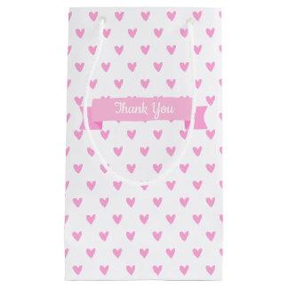 Petit Sac Cadeau Merci rose mignon de baby shower du motif | de