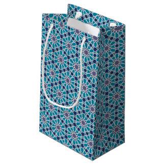 Petit Sac Cadeau Motif abstrait dans bleu et gris