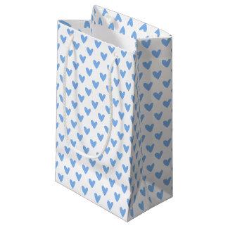 Petit Sac Cadeau Motif bleu mignon de coeurs