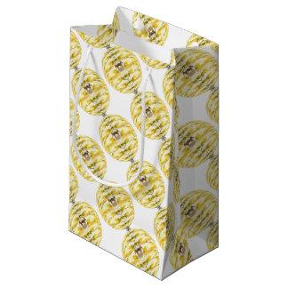 Petit Sac Cadeau Motif de ruche d'abeille de boule de disco