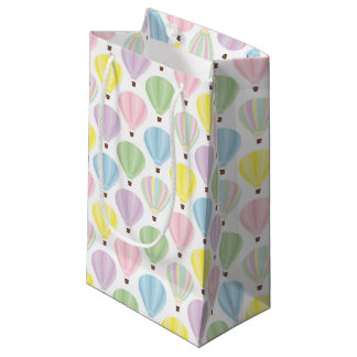 Petit Sac Cadeau Motif en pastel chaud de ballon à air