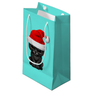 Petit Sac Cadeau Panthère noire mignonne CUB utilisant un casquette