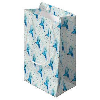 Petit Sac Cadeau Papier de soie de soie de colibri