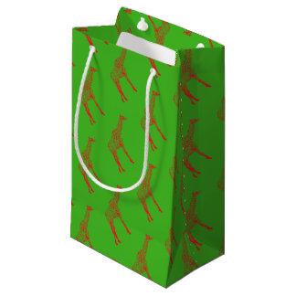 Petit Sac Cadeau Papier d'emballage d'ensemble de girafe de pochoir