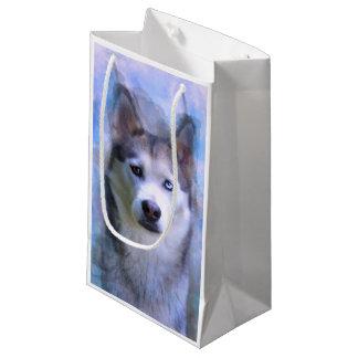 Petit Sac Cadeau Peinture d'art de couleur d'eau de chien de chien