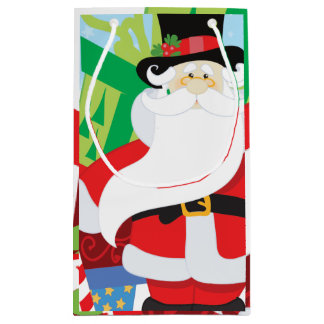 Petit Sac Cadeau père Noël dans le tophat par la pile de presentts