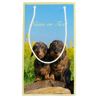 Petit Sac Cadeau Photo mignonne de Dackel de deux chiens de teckel