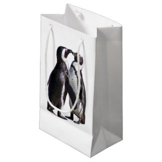 Petit Sac Cadeau Pingouin Romance