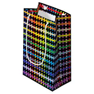 Petit Sac Cadeau Plus large spectre abstrait et noir d'arc-en-ciel