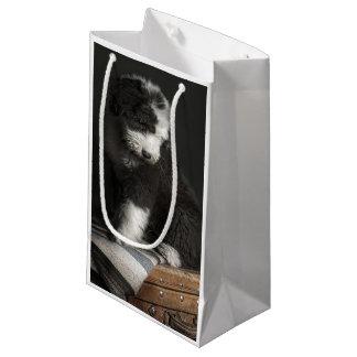 Petit Sac Cadeau Portrait de chiot de queue écourtée dans le studio