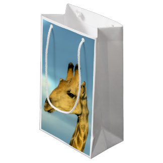 Petit Sac Cadeau Portrait de girafe
