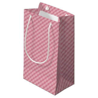 Petit Sac Cadeau Rayures roses de pétale