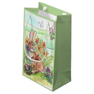 Petit Sac Cadeau Ressort de lapin de Pâques