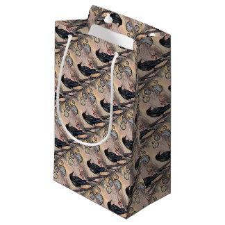 Petit Sac Cadeau Steampunk Raven avec des horloges