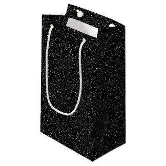 Petit Sac Cadeau Style en pierre noir moderne - l'espace