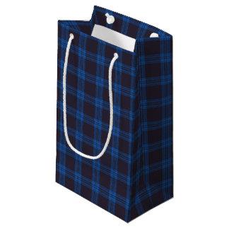 Petit Sac Cadeau Tartan bleu