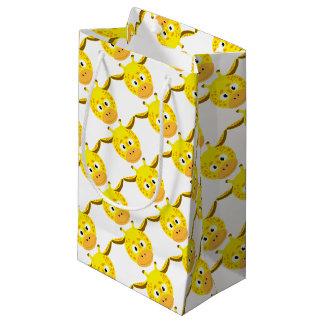 Petit Sac Cadeau Tête de Girafe