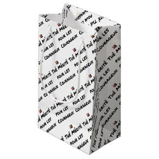 Petit Sac Cadeau THÉ MÉRITÉ POUR LES COURAGEUX - Jeux de mots