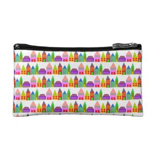 petit sac cosmétique de maisons heureuses